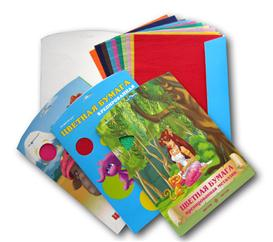 Crepe Paper sheets in Color Printing Paper Cardboard Folder