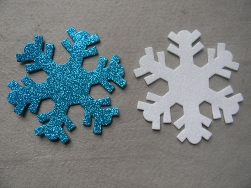 Glitter EVA foam Snow shapes