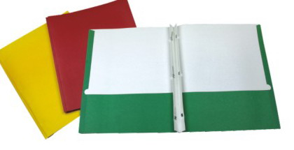 TWIN POCKET FOLDER WITH 3 PRONGS